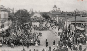 Крестный ход с мощами святого Иосафа. 1911г.