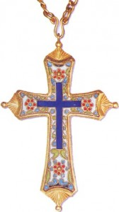 Юбилейный наперсный крест в память празднования 1000-летия Крещения Руси