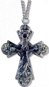 Памятный иерейский крест в честь второго обретения мощей преподобного Серафима Саровского (1991 г.)