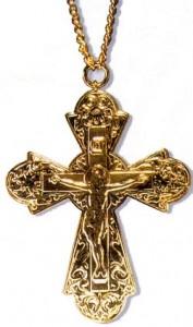 Памятный золотой иерейский крест в честь второго обретения мощей преподобного Серафима Саровского (1991 г.)
