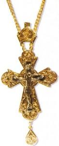 Памятный иерейский крест с украшениями в честь второго обретения мощей преподобного Серафима Саровского (1991 г.)