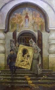 Изъятие церковных ценностей в Покровской церкви