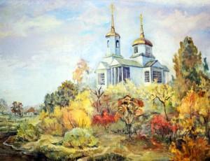Петропавловский храм. Картина местного художника.
